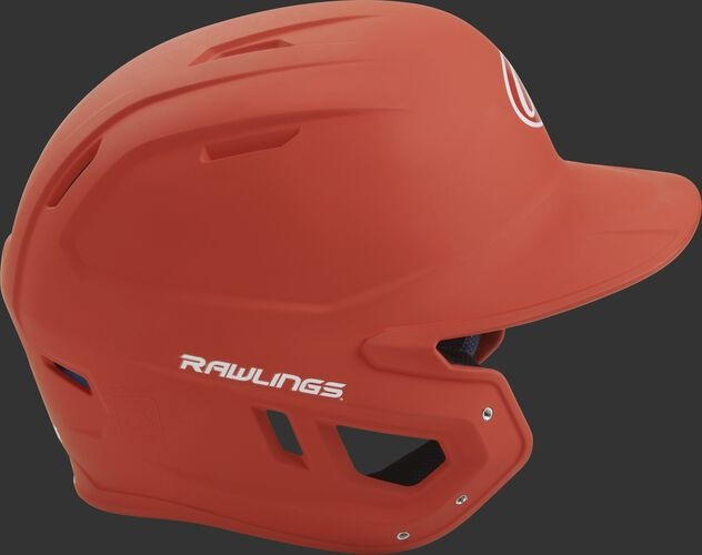Right side of a matte burnt orange MACH helmet