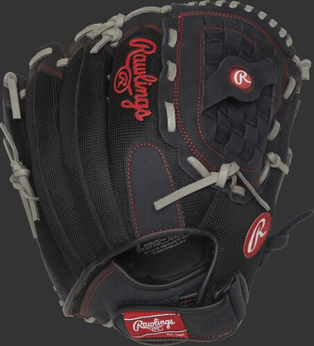 R130BGS 13-inch recreational Renegade Series glove with a black mesh back and Velcro wrist strap