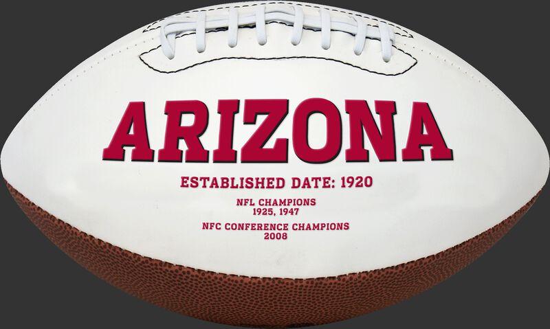 White NFL Arizona Cardinals Football With Team Name SKU #06541081811