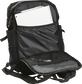 An open black CEO coach's backpack with papers in the back storage compartment - CEOBP-B image number null