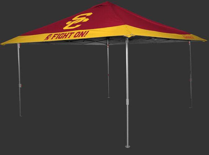 Rawlings Cardinal and Gold NCAA USC Trojans 10x10 Eaved Canopy With Team Logo and Name SKU #07843100111