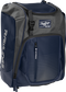 Front left angle of a navy Rawlings Franchise bag with gray accents - SKU: FRANBP-N image number null