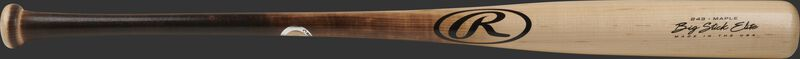 A 2021 Big Stick Elite 243 Maple wood bat with a natural wood barrel and flame tempered handle - SKU: 243RMF