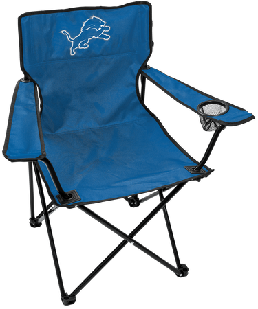 NFL Detroit Lions Gameday Elite Chair with team colors and logo on the back