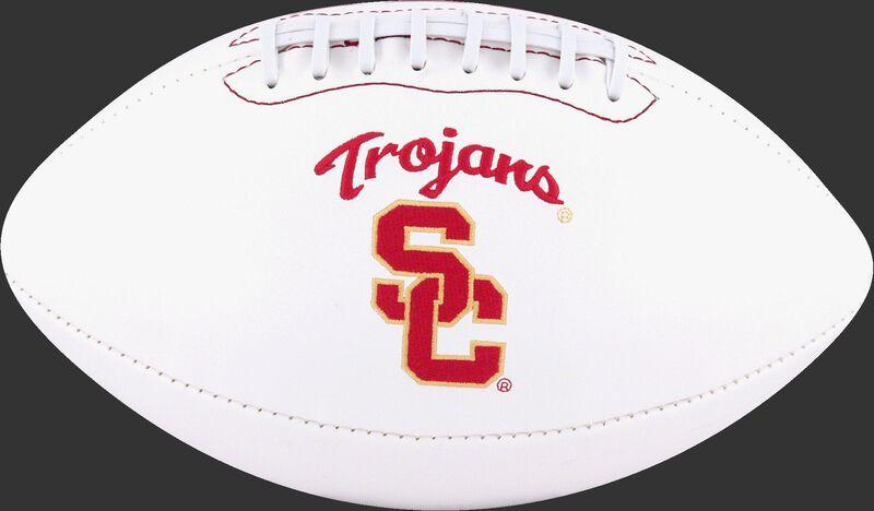 White NCAA USC Trojans Football With Team Logo SKU #05733100122