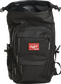 A black Rawlings CEO backpack with the roll top compartment opened up - SKU: CEOBP-B image number null