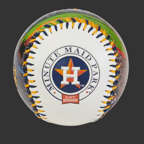 Houston Astros team logo on a MLB stadium baseball
