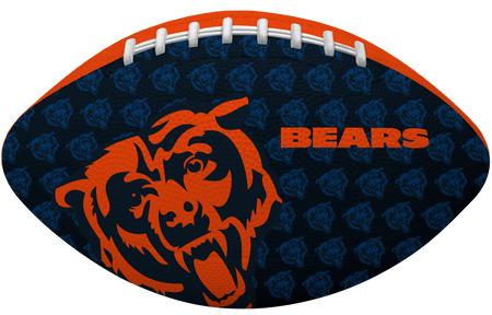 Navy blue side of a NFL Chicago Bears Gridiron football with the team logo