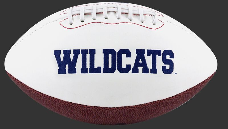 White NCAA Arizona Wildcats Football With Team Name in Blue SKU #05733068121