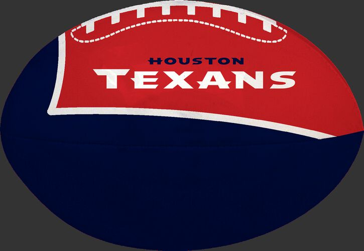 Navy and Red NFL Houston Texans Football With Team Name SKU #07831093114