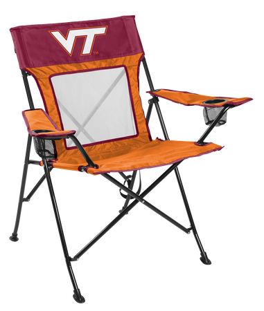 NCAA Virginia Tech Hokies Game Changer chair with the team logo