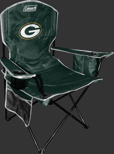 Front of Rawlings Green NFL Green Bay Packers Chair With Team Logo SKU #02771068111