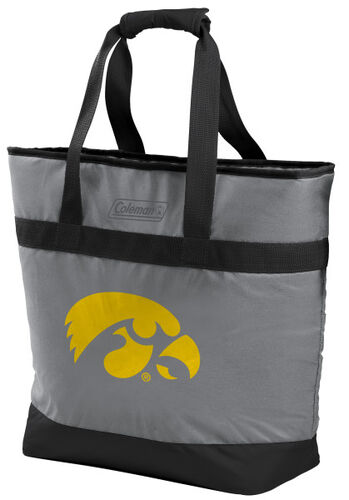 Rawlings Iowa Hawkeyes 30 Can Tote Cooler In Team Colors With Team Logo On Front SKU #07883075111