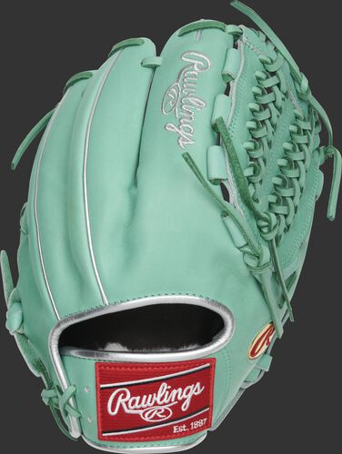 Ocean mint back of a Marcus Stroman G57 Series glove with a red Rawlings patch - SKU: PROS206-MSO