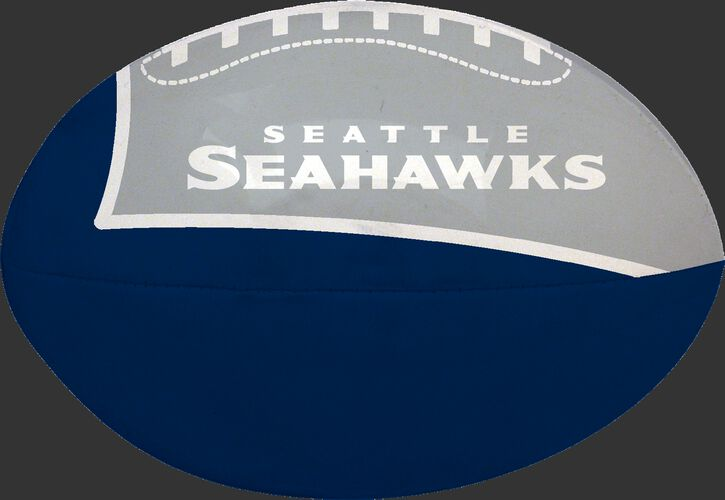 Navy and Grey NFL Seattle Seahawks Football With Team Name SKU #07831085112