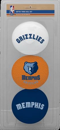 NBA Memphis Grizzlies Three-Point Softee Basketball Set