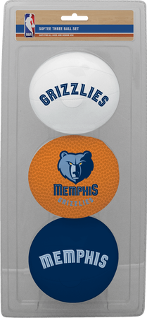 NBA Memphis Grizzlies Three-Point Softee Basketball Set