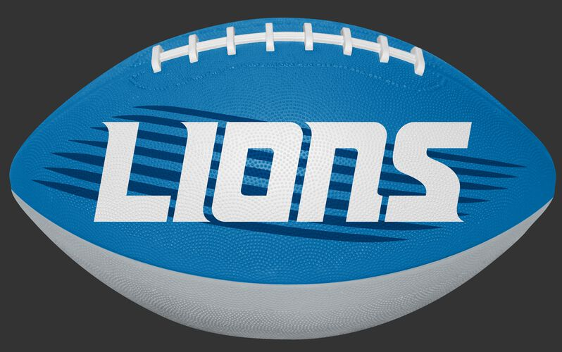 Blue and White NFL Detroit Lions Downfield Youth Football With Team Name SKU #07731067121