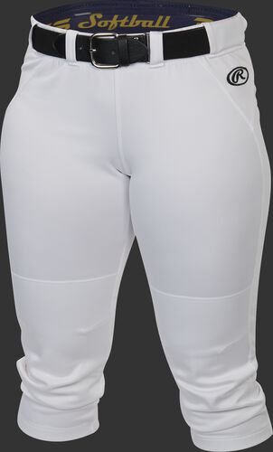 Front of Rawlings White Women's Yoga Style Softball Pant - SKU #WYP