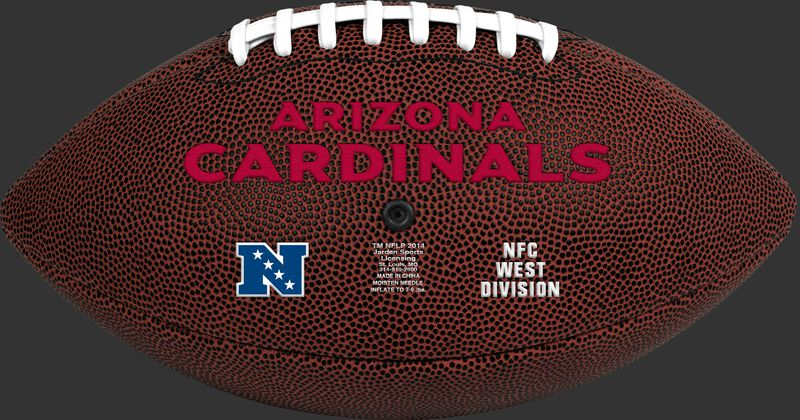 Brown NFL Arizona Cardinals Football With Team Name SKU #07081081811
