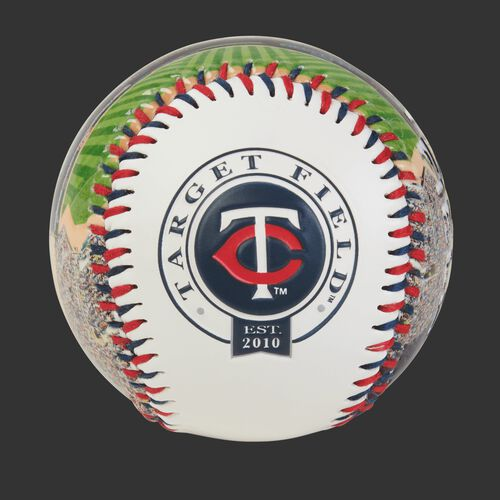 Minnesota Twins team logo on a MLB stadium baseball