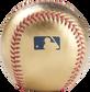 MLB logo stamped on a Gold MLB baseball - SKU: RSGEA-GOLD-R image number null