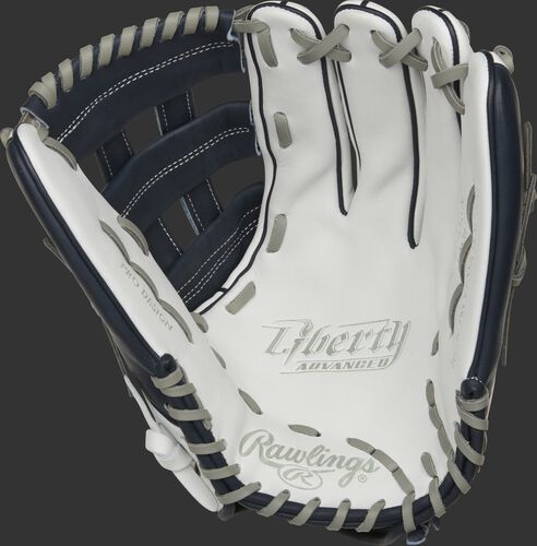 Liberty Advanced Color Series 13-Inch Outfield Glove White/Navy