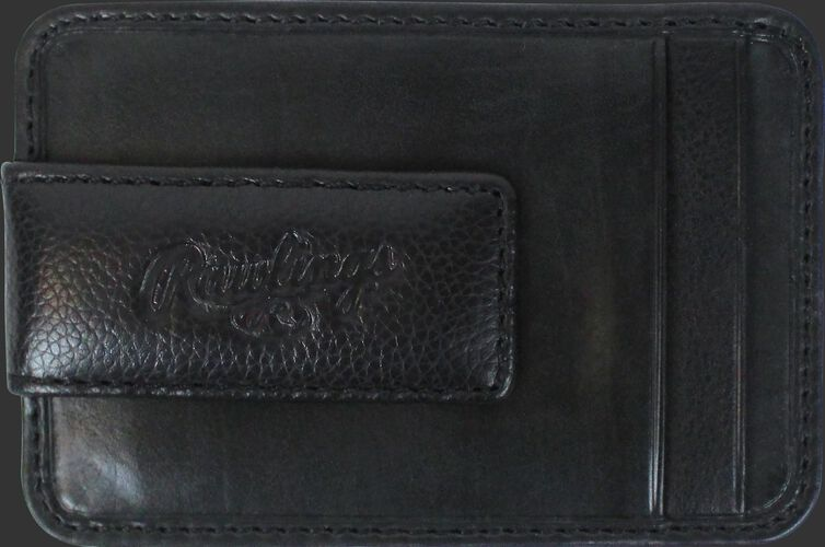 The money clip on a black Rawlings Bases Loaded magnetic money clip - SKU: RW80002-001