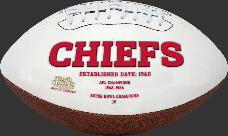 White NFL Kansas City Chiefs Football With Team Name SKU #06541071811