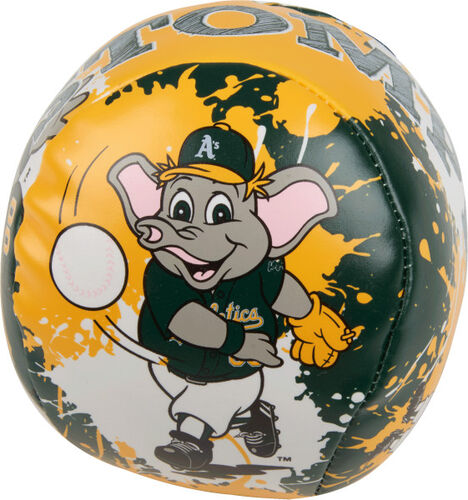 Rawlings Oakland Athletics Quick Toss 4'' Softee Baseball With Team Mascot On Front In Team Colors SKU #01320003112