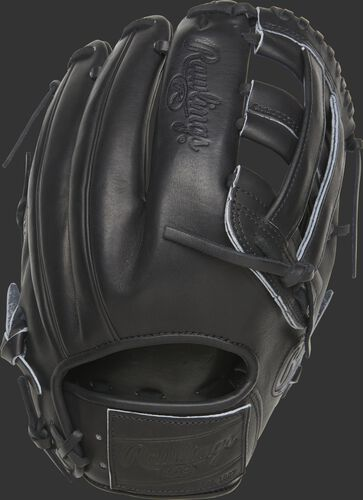 PROKB17-6B 12.25-inch Heart of the Hide Pro Label glove with a black back and black leather patch