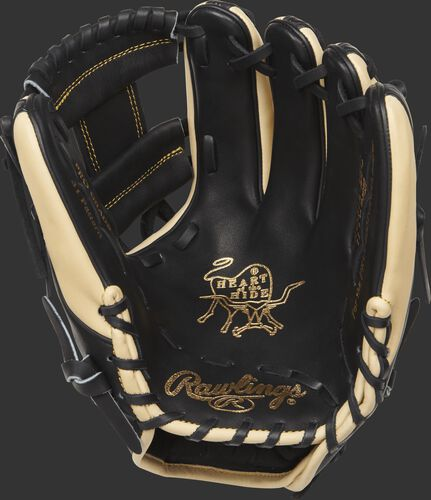 PRO312-2BC Heart of the Hide 11.25-inch glove with a black palm and black laces