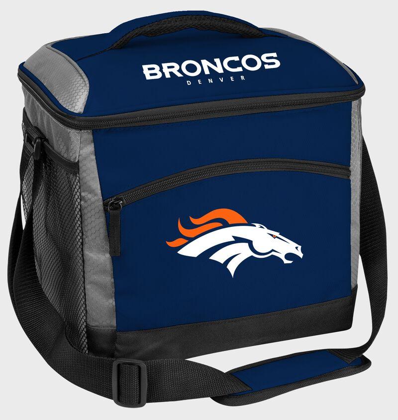 A Denver Broncos 24 can soft sided cooler