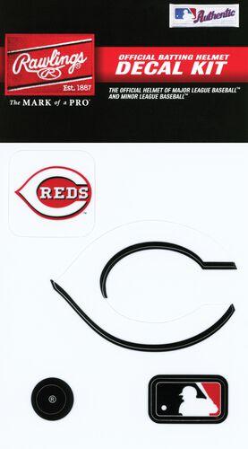Rawlings MLB Cincinnati Reds Decal Kit With Team Logos and MLB Logo SKU #MLBDC-CIN