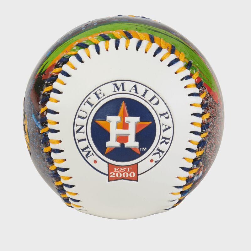 Houston Astros team logo on a MLB stadium baseball