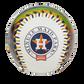 Houston Astros team logo on a MLB stadium baseball image number null
