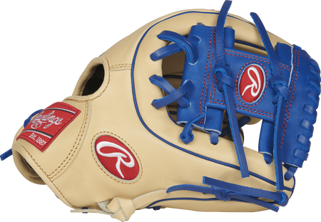 Thumb view of a PRO312-2CR Heart of the Hide 11.25-inch infield glove with a royal blue I web