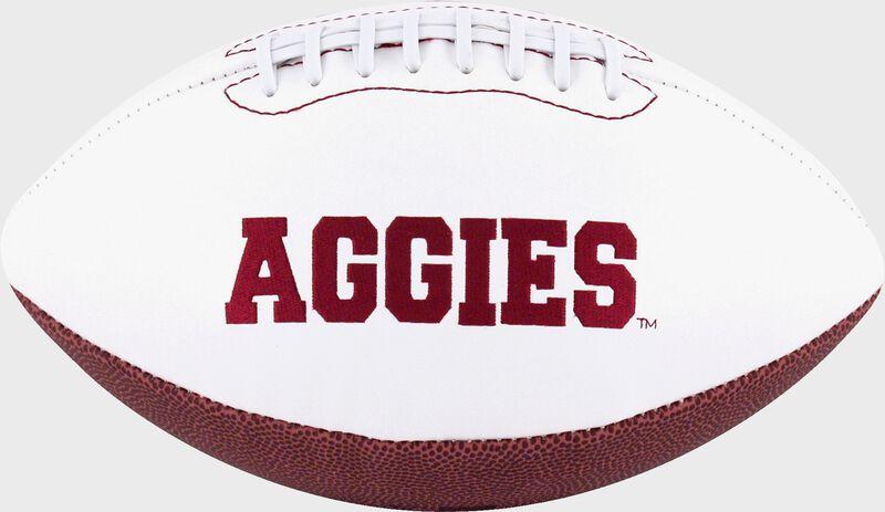 White NCAA Texas A&M Aggies Football With Team Name SKU #05733061121
