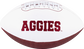 White NCAA Texas A&M Aggies Football With Team Name SKU #05733061121 image number null