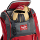 A Rawlings baseball glove in the top compartment of a Franchise baseball backpack - SKU: FRANBP-S image number null
