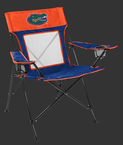 Front of Rawlings Blue and Orange NCAA Florida Gators Game Changer Chair With Team Logo SKU #00643022111