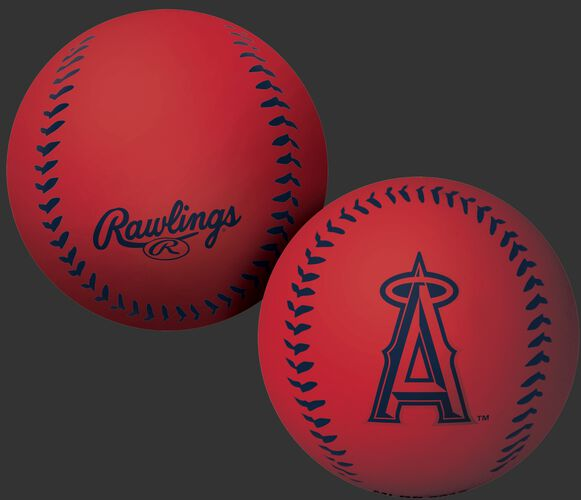 Rawlings Los Angeles Angels Big Fly Rubber Bounce Ball With Team Logo on Front In Team Colors SKU #02870001112