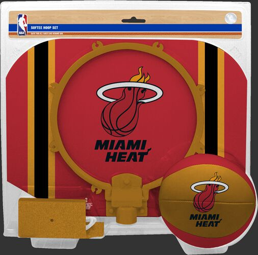 Rawlings Red and Gold NBA Miami Heat Softee Hoop Set With Team Logo SKU #03544205114