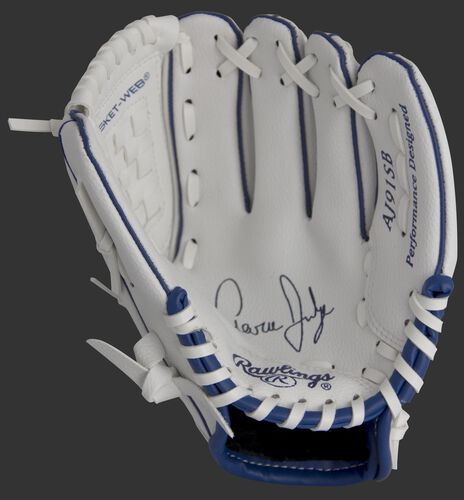MLBPA Aaron Judge 9-inch player glove with a white palm