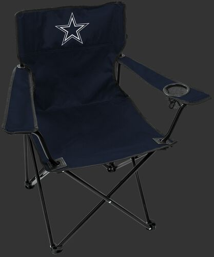 Front of Rawlings Navy Blue NFL Dallas Cowboys Gameday Elite Chair With Team Logo SKU #00551065111