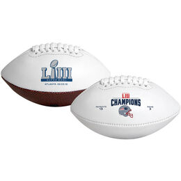 Super Bowl 53 Champions New England Patriots Youth Size Football