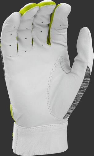 White palm of a 5150WGB-OY Rawlings youth 5150 batting glove