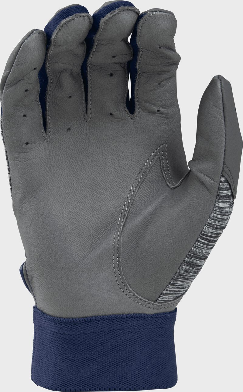 Grey palm of a grey/navy 5150GBGY youth 5150 bating glove