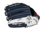 Back of a navy, white & red New York Yankees 10-inch youth glove with the MLB logo on the pinky - SKU: 22000030111 image number null