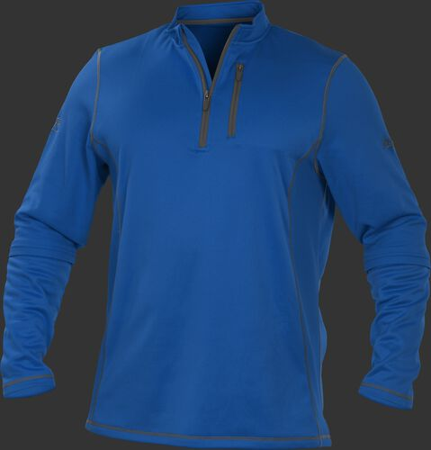 TECH2 Royal Rawlings quarter-zip fleece pullover with graphite chest pocket zipper